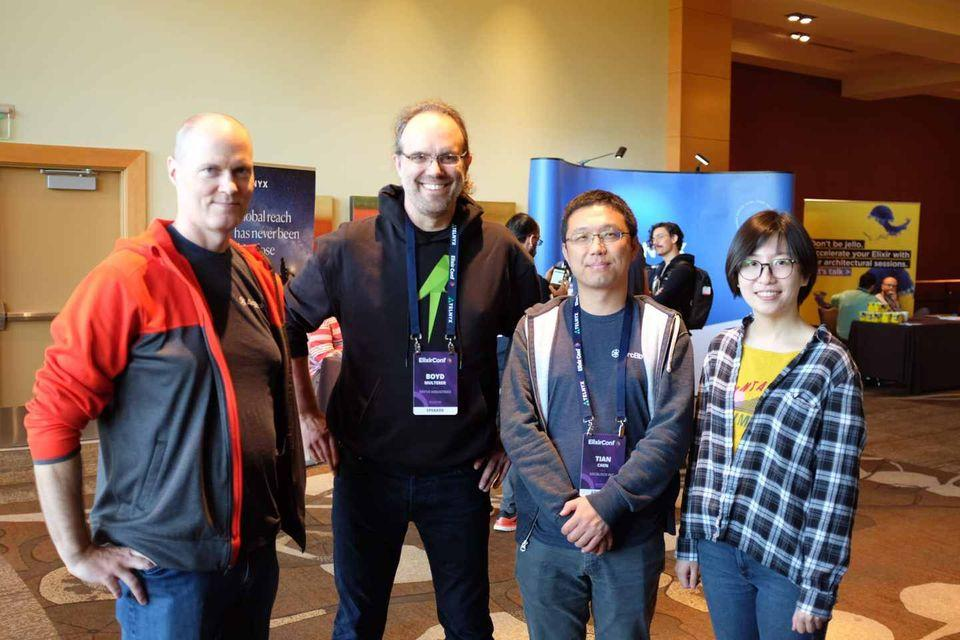 ArcBlock team members with Boyd Multerer